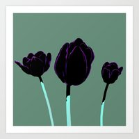 tulips Art Prints featuring Tulips by Ludovic Jacqz