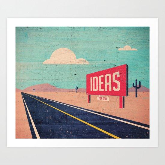 IDEAS FOR SALE Art Print