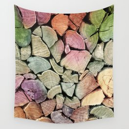 colorful wood Wall Tapestry