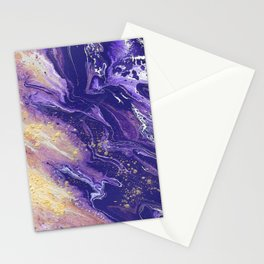 Violet Flow Stationery Cards