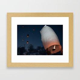 Letting Go - Paper Lanterns Framed Art Print