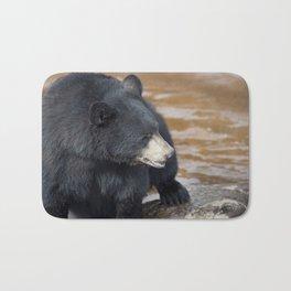 Black Bear (Ursus americans) near water Bath Mat