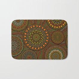 Dot Art Circles Aboriginal Art #1 Bath Mat