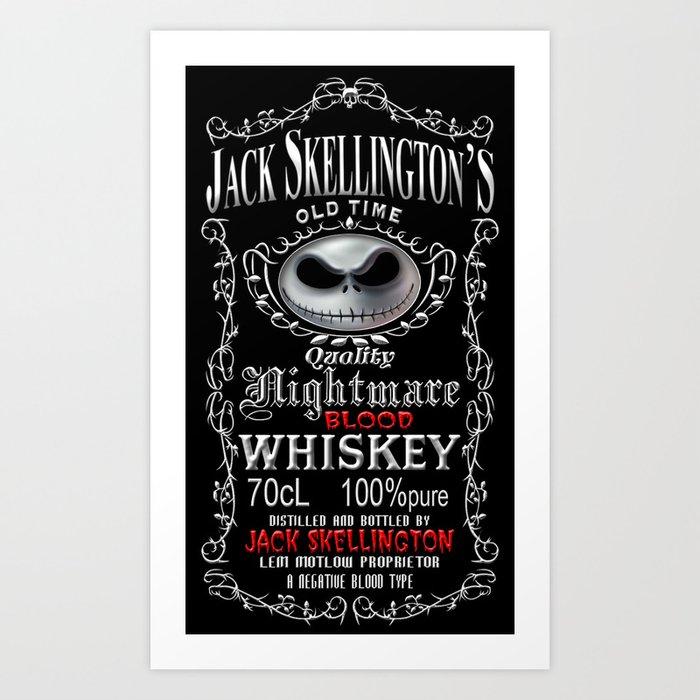 Halloween Parody Nightmare Jack Skellington Art Print By Threesecond