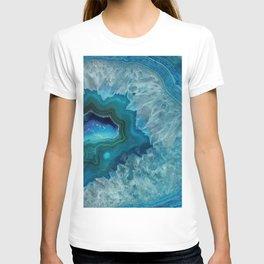 Teal Druzy Agate Quartz T-shirt