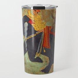 Prince Amar Singh riding an Elephant - Vintage Indian Art Print Travel Mug