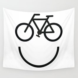 Bike face, bicycle smiley Wall Tapestry