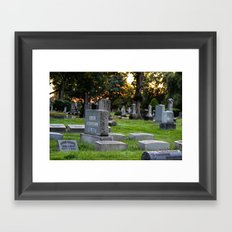 Graveyard Sunset Framed Art Print