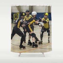 Tyne and Fear on the offense Shower Curtain
