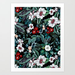 Midnight Garden V Art Print