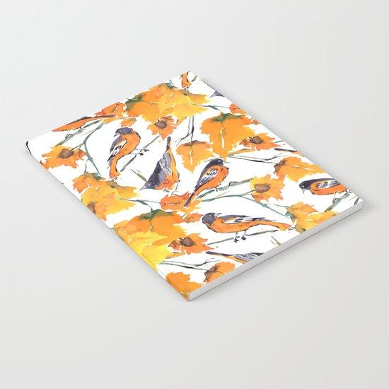 Birds in Autumn Notebook