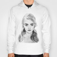 cara delevingne Hoodies featuring Cara Delevingne by sunshinegirldraws