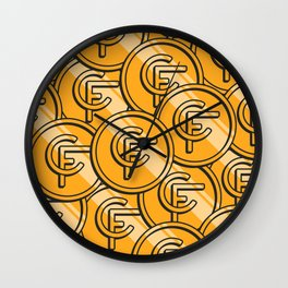 Coinfinds Logo Pattern Wall Clock