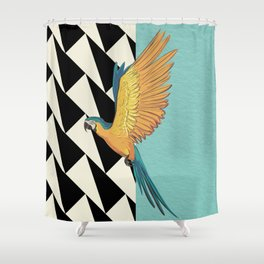 Parrot Pattern Shower Curtain