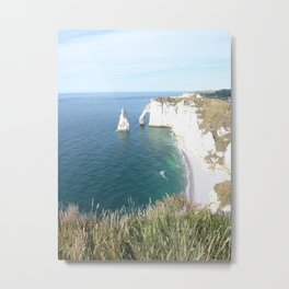 Cliffs at Etretat Metal Print