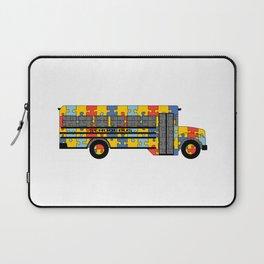 Autism Awareness School Bus Laptop Sleeve