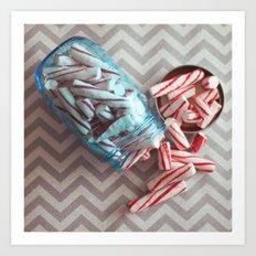 peppermint sticks Art Print