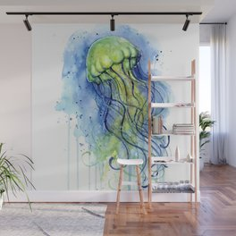 Jellyfish Watercolor Beautiful Sea Creatures Wall Mural
