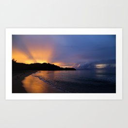 Perfect Hanalei Bay Sunset Art Print
