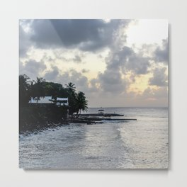 Tobago Beach - Sunset Colour Metal Print