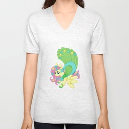 Fancy Fluttershy Unisex V-Neck