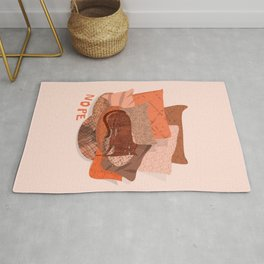 Nope -Red Lazy Cat Rug