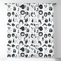 black and white Scandinavian Nursery Prints patterns by creativebabies