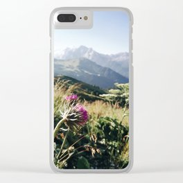 alpine view Clear iPhone Case