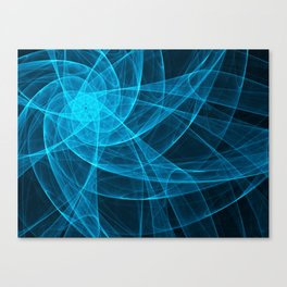 Tulles Star Computer Art in Blue Canvas Print