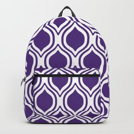 University sports clemson orange and white ogee pattern minimal college football fan Backpack