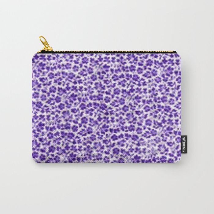 Purple Vintage Flowers Carry-All Pouch
