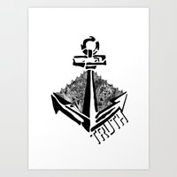 anchors Art Prints featuring anchors by Olive Noelle