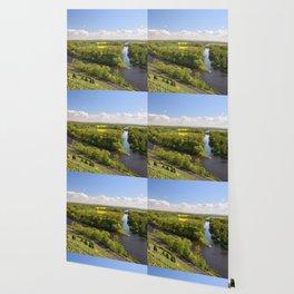 Czech sunny spring landscape Wallpaper