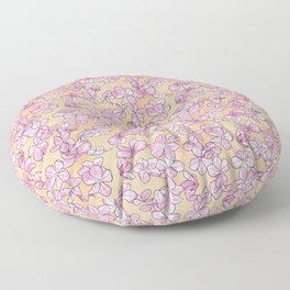 Plumbago Floral Pattern | Pink Floor Pillow