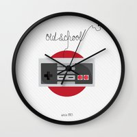 old school Wall Clocks featuring Old School by La Marì