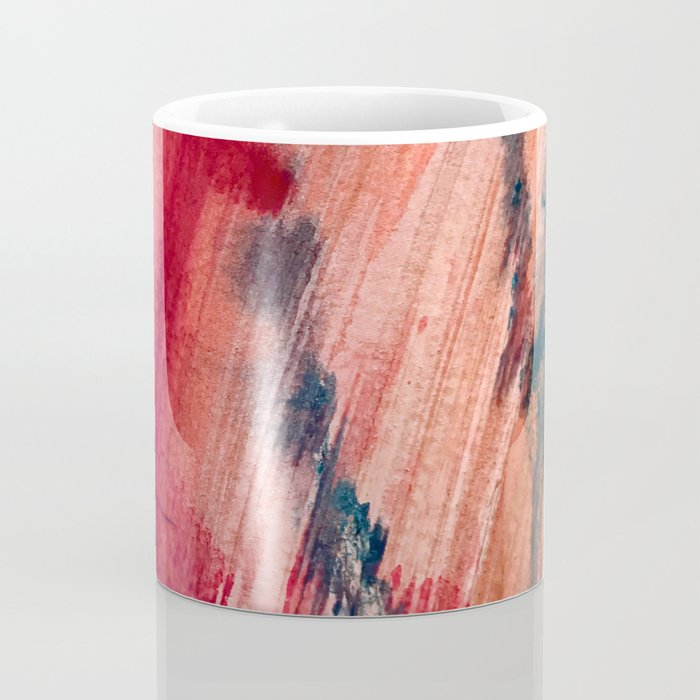 Blushing [2]: a vibrant, minimal abstract in pink, red, and blue details Coffee Mug