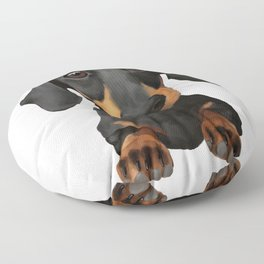 Cute Sausage Dog Floor Pillow