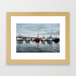 Harbour line Framed Art Print