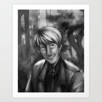 hetalia Art Prints featuring Hetalia print 1 by Milkyol