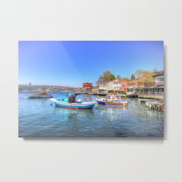 Boats on The Bosphorus Istanbul Metal Print