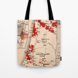 Map Of Palestine 1926 Tote Bag
