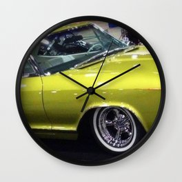 Lime Green Merc 1963 Wall Clock
