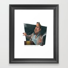 Christopher Hitchens Framed Art Print