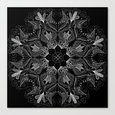 Black Mandala 2 Canvas Print