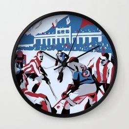 Retro Ice Hockey Wall Clock