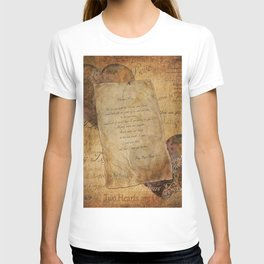 Two Hearts are One - Vintage Romantic Steampunk Art T-shirt