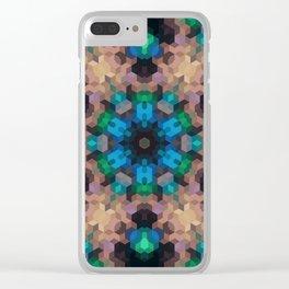 Multi-colored ornament, mosaic Clear iPhone Case