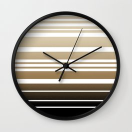 Bay Ombre Stripe: Neutral Wall Clock