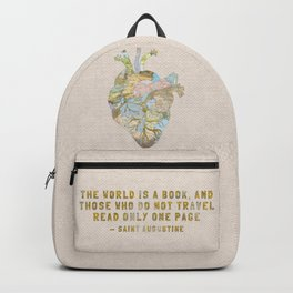 A Traveler's Heart + Quote Backpack