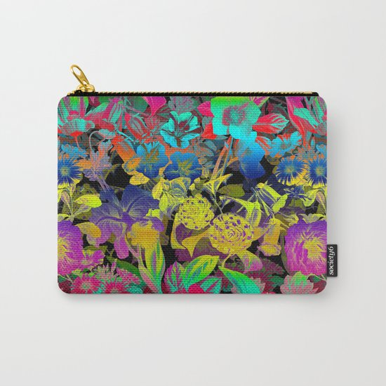 Lsd Floral Pattern Carry-All Pouch